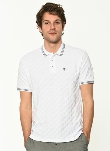 George Hogg Erkek 7004658 Slim Fit Tshirt Beyaz